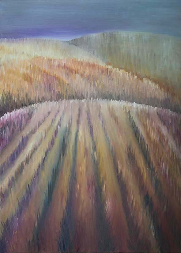 fields sussex landscape countryside oil painting