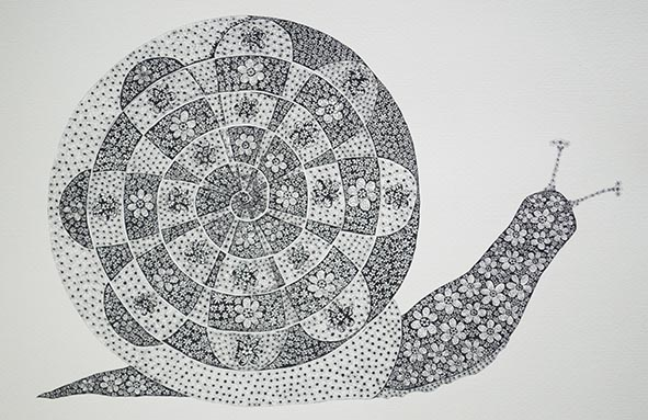 snail pen and ink